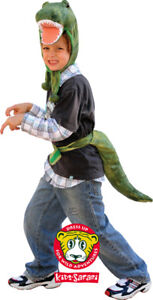 Plush T-REX TREX Dinosaur Hood Hat Tail Costume Dress