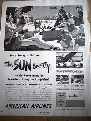 1948 American Airlines Sun Country Holmgren Art Ad