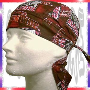 New Alabama Crimson Tide Sweatband Doo Rag Du Skull Cap Ebay