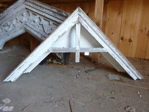 C1870 victorian peaked window pediment gable 56 x 28 ebay for Gable pediments for sale