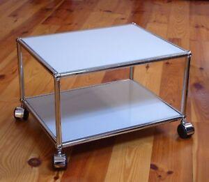 usm haller b ro druckertisch beistelltisch couchtisch tv wagen lichtgrau. Black Bedroom Furniture Sets. Home Design Ideas