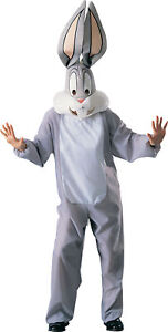Looney Tunes Bugs Bunny Costume (Deluxe) Mens Fancy Dress Outfit Adult Medium