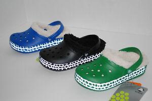NWT-CROCS-KIDS-CROCTILE-MAMMOTH-BLACK-GREEN-BLUE-LINED-CLOGS-8-9-10-11-12-13-1