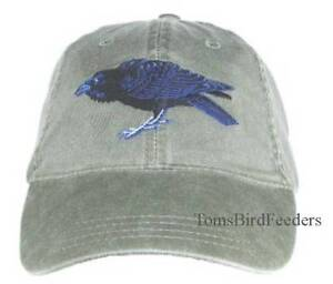 Raven-Embroidered-Cotton-Cap-NEW-Bird-Hat