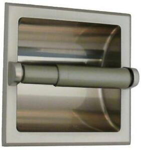 Recessed toilet paper holder brushed nickel ebay - Recessed brushed nickel toilet paper holder ...