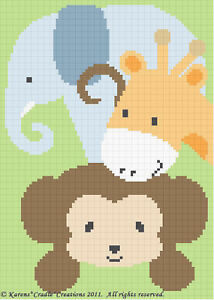 Crochet-Pattern-SAFARI-ANIMALS-Monkey-Elephant-Giraffe
