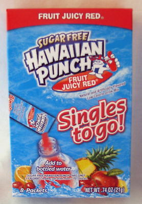 72 X Hawaiian Punch Fruit Juicy Red Singles To Go Packets