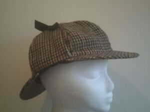 New-SHERLOCK-HOLMES-Deerstalker-Hat-WOOL-60cm-Free-Worldwide-shipping