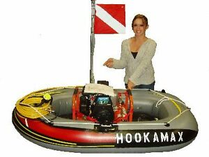 Hookah diving   gas powered compressor diving  rig.