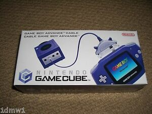 NINTENDO-GAMEBOY-ADVANCE-TO-GAMECUBE-OFFICIAL-GENUINE-LINK-CABLE-BRAND-NEW