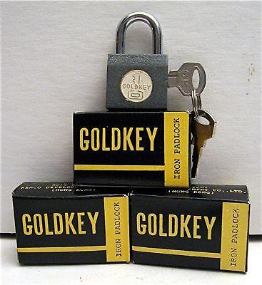 3 Old Gumball Vending Machine Goldkey Iron Padlocks