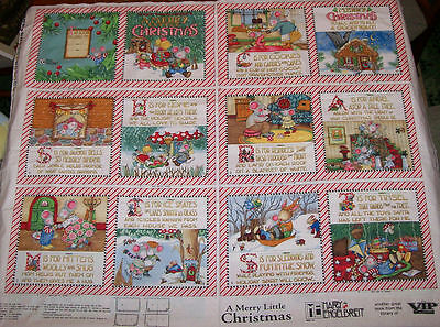 A Mary Engelbreit Merry Little Christmas Cotton Soft Book Fabric Panel