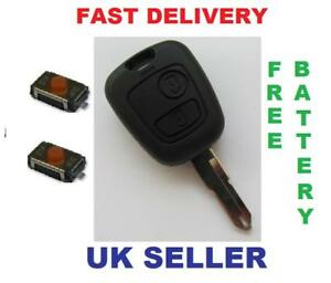 peugeot 106 206 307 remote key fob repair kit battery ebay. Black Bedroom Furniture Sets. Home Design Ideas