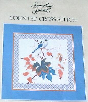 1984 Candamar Autumn Leaves nanga Birds Cross Stitch Kit Nip 12x12