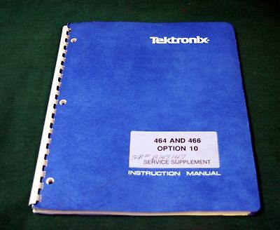 Tektronix 464-466 Opt.10 Service Supplement