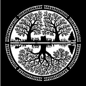 Circle-of-Trees-and-Deer-Silhouette-Cross-Stitch-Chart