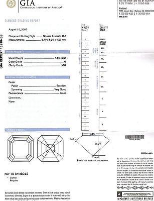2.76ct Asscher Cut Diamond Engagement Ring GIA G/VS1  3