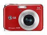 GE A1050 10.1 MP Digital Camera - Red