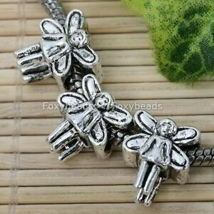 20P-Tibetan-Silver-Angel-Spacer-Bead-Fit-Charm-Bracelet