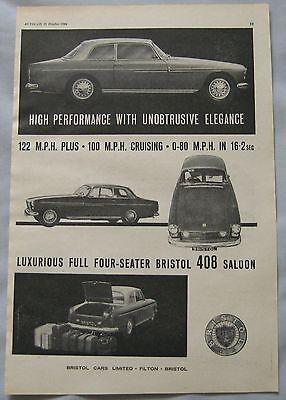1964 Bristol 408 Original advert