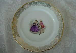 veritable porcelaine b f courting scene plate france ebay. Black Bedroom Furniture Sets. Home Design Ideas