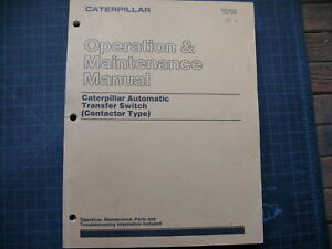 caterpillar automatic transfer switch operation manual ebay. Black Bedroom Furniture Sets. Home Design Ideas
