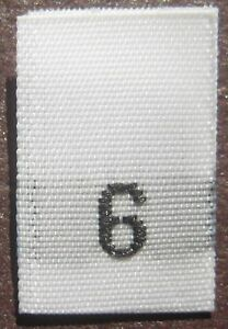 50-WOVEN-CLOTHING-LABELS-SIZE-TAGS-SIZE-6-WHITE