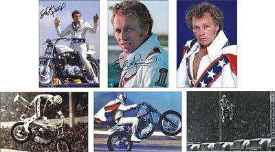 Evel Knievel motorbike daredevil  Legend POSTCARD Set