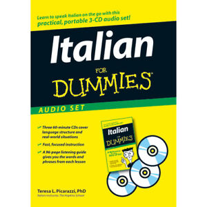 Learn Italian For Dummies Audio CD Set with free gift