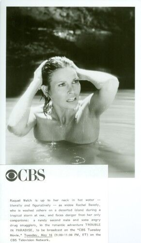 RAQUEL WELCH SEMI-NUDE TROUBLE IN PARADISE CBS TV PHOTO