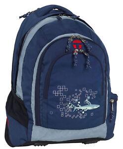 take it easy school bag berlin shark backpack ebay. Black Bedroom Furniture Sets. Home Design Ideas