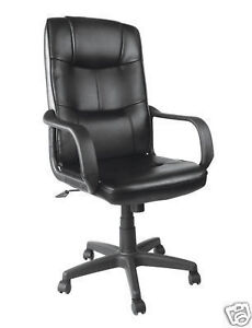 Executive Office Home Computer Desk PU Chair High Back