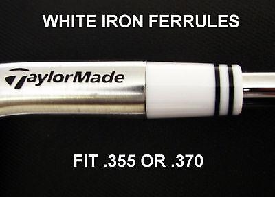 25 Custom Tour White Ferrules W Black Rings .355 Or.370