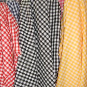 ACRYLIC-CLOTH-FABRIC-GINGHAM-CHECK-PLAID-RED-BLACK-BLUE