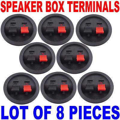 (8) 47mm Speaker Sub Box Enclosure Push Terminal Cups