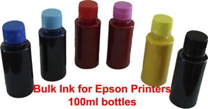 6x100ml-Bulk-Ink-for-Epson-to-refill-CISS-or-Cartridges