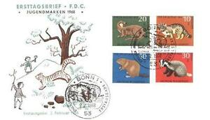 Germany 1968 FDC 549-52b Animals Pets Tiere - <span itemprop='availableAtOrFrom'> Dabrowa, Polska</span> - Germany 1968 FDC 549-52b Animals Pets Tiere -  Dabrowa, Polska
