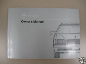 1995 Mercedes Benz S500 S600 coupe Owners Manual
