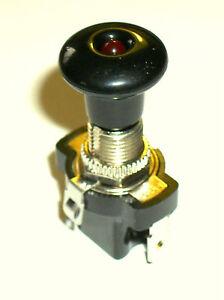 12V 10A  Zugschalter -LED rot-  (ein/aus)