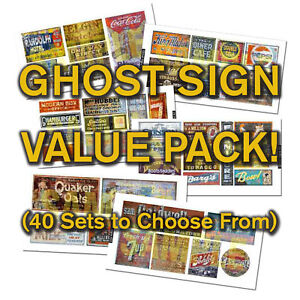 HO-or-N-Scale-Ghost-Sign-Decals-Value-Pack-25-DISCOUNT