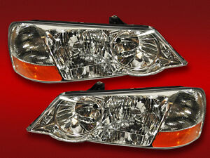 New 02-03 Acura 3.2 TL Headlights Headlamps Pair Set Driver & Passenger Sides