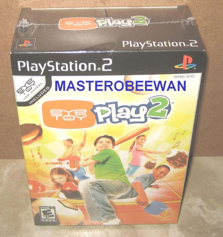 Ps2 Eyetoy: Play 2 + Usb Camera Bundle Sealed (sony Playstation 2, 2005)