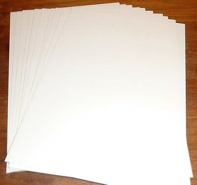 10 Sheets A4 Plasticard 1mm (40Thou) White or Black
