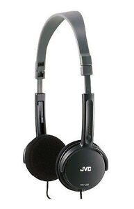 New JVC Foldable Lightweight Stereo Over Ear Earphones Headphones - Black