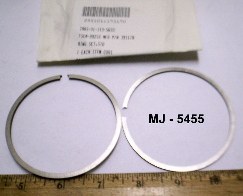 Outboard Marine Corp. - Std Ring Set - OMC P/N: 391170 (NOS)