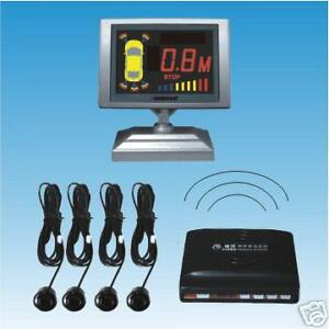 Wireless Parking Reversing Sensor 4 Sensors LCD Display