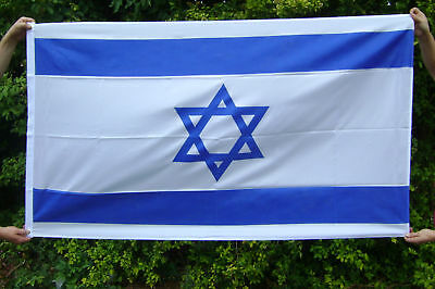 NEW 5 x 3 FOOT (150x90cm) ISRAEL ISRAELI FLAG WITH STAR OF DAVID