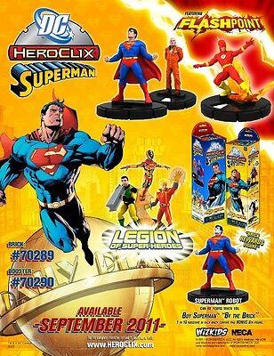 Heroclix Superman Complete Cur/sr And Chase Set 1-58 Plus Brick Figure