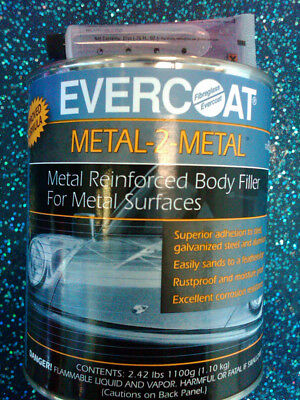 Fibreglass Evercoat 889 Metal-2-metal Aluminum Reinforced Filler - Quart 6