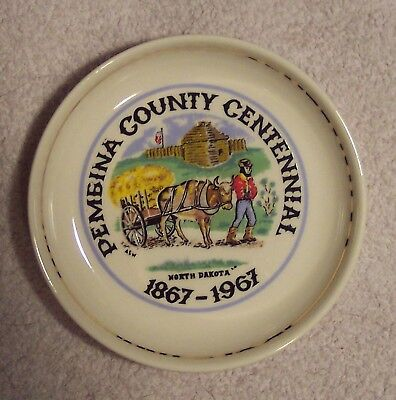 Pembina County Centennial North Dakota 1967 Glass Coaster